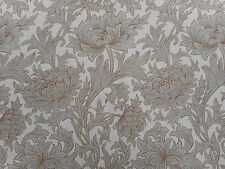 William Morris Curtain Fabric 'Chrysanthemum Toile' 3.8 METRES 380cm Slate/Cream