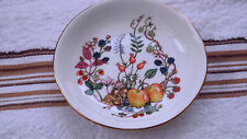 AYNSLEY BUTTER DISH / PIN TRAY IN SOMERSET PATTERN   A FRUIT PATTERN