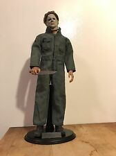 "Custom 1/6 Halloween '78 ""The Shape"" Michael Myers W/ Knife and Blank Stand"
