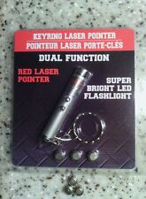 2 in1 Keyring Laser Pointer With 3 New Extra Batteries. Dog - Cat toy! New!
