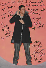 ALEX REID Signed 12x8 Photo CELEBRITY BIG BROTHER Winner COA
