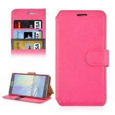 COVER CUSTODIA PER SAMSUNG GALAXY A7 SM-A700F ROSA IN PELLE+SLOT STAND CASE SLIM