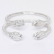 New Snake Lion Ends .925 Sterling Silver West Indian Bangles