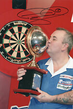 PHIL TAYLOR In Person Signed 12x8 Photo DARTS WORLD CHAMPION Proof COA
