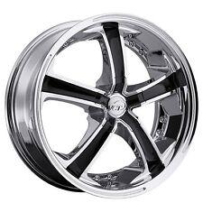 """4New 20"""" VCT Wheels Massino Chrome W/ Black Inserts Rims"""