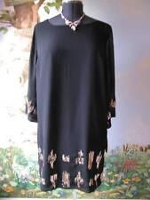 Dana Buchman Plus Women Black With Gold Sequin Cocktail Dress SZ 0X NWT