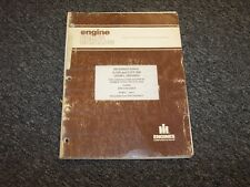 International Harvester D310 D358 DT358 Diesel Engine Parts Catalog Manual