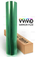 Reflective Green one way mirror window film 3ft x 5ft privacy security sticker