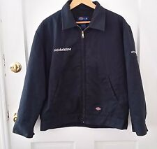 """Dickies Large Work Jacket Lined Quilted Blue """"Old Christine"""""""