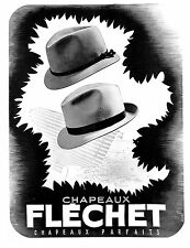 CHAPEAUX HATS FLECHET PUBLICITE ADVERTISING 1938