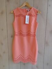 NWT/D $365 Elizabeth and James Merna Scallped Perforated Sheath Dress Peach 4 S