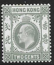 Hong Kong 1903 2c Dull Green (Mint)