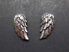 'QQice' 925 Sterling Silver-Wing-Stud Earrings