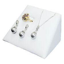 MODERN WHITE COMBO MINI DISPLAY SET JEWELRY DISPLAY RING EARRING PENDANT HOLDER
