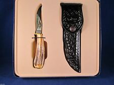 2012 Case XX Stag Pheasant Fixed Blade Hunting Knife & Sheath Mint In Tin