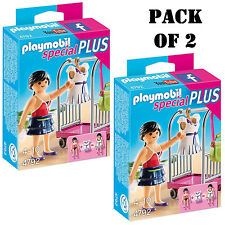 """Pack of (2) New! Playmobil 4792 Clothing Rack Building Kit """"Latest Fashion"""" 4-10"""