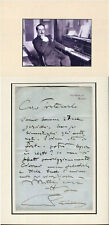 Puccini Writes to His Biographer Autograph Letter Signed