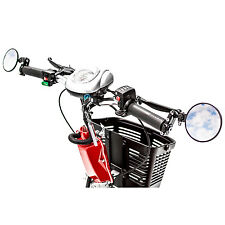 Rear View Mirror Pair Side Mount for most Mobility Scooters with T-Tiller Style