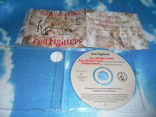 FOO FIGHTERS - FOR ALL THE COWS UK CD SINGLE
