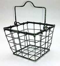 "Country Primitive Farmhouse Style 4"" Wire BERRY BASKET with Handle"