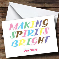 Making Spirits Bright Personalised Christmas Card
