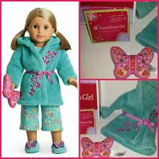 AMERICAN GIRL GARDEN ROBE AND PILLOW SET NEW, FAST SHIPPING NIB INT'L WELCOME