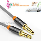 New Male to Male 3.5mm Stereo Audio Headphone Aux Cable Cord For MP3 Iphone Ipod