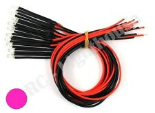 RC LED Light Replacement Lead Prewired, 2pc Non-Flashing Pink 5mm