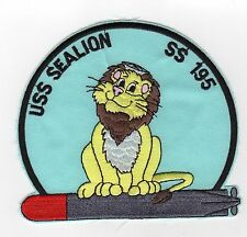 USS Sealion SS 195 - Lion sitting on torp BC Patch Cat No C5143