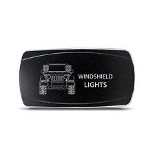 Rocker Switch Jeep JK Windshield Lights Symbol - Horizontal - White LED