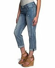 NEW 12M Rock & Republic INDEE Slim-Fit BOYFRIEND Jeans Low Rise SPLATTERED Destr