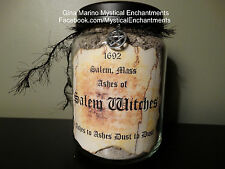 HALLOWEEN PROP Salem Witches Ashes Apothecary Jar- Large 26 oz