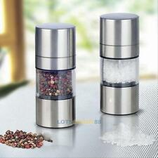 1pc Stainless Steel Salt Herb Pepper Mill Grinder Muller Hand Crank Kitchen Tool