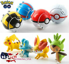 4 x Pokemon Throw Pop PokeBall Cosplay Pop-up Elf Go Fighting Poke Ball GOGOGO