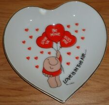 ZIGGY LOVE TALK Heart Shaped Change Dish or Collector's Plate LOVE IS IN THE AIR