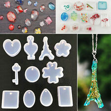 11Pcs Silicone Mold Jewelry Pendant Ornament Resin Making Geometric DIY Decor