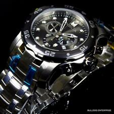 Men Invicta 48mm Pro Diver Scuba Grey Dial Stainless Steel Chronograph Watch New