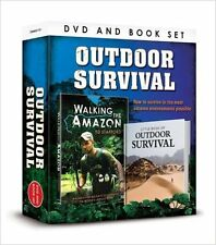 OUTDOOR SURVIVAL BOOK & WALKING THE AMAZON RIVER DVD NEW DVD & BOOK GIFT SET