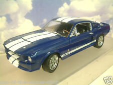 1/18 GREENLIGHT 1967 FORD SHELBY MUSTANG GT500 GT-500 BLUE/WHITE STRIPES #12953