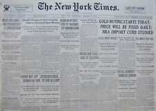 HITLER BEGS REICH TO VOTE AS A UNIT. GOLD BUYING STARTS TODAY 10-1933 OCTOBER 25