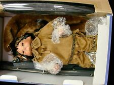 Cathay Collection Plains Indian/Native American Porcelain Doll with Travois