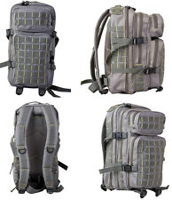 Army Military Tactical Combat Rucksack Backpack Molle Day Pack Bag 28L Grey New