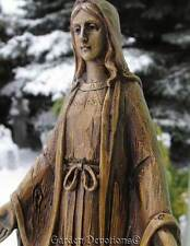 "Unique 8"" WOOD CARVED LOOK STATUE OF BLESSED VIRGIN MARY ~ New!"