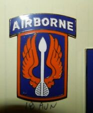 COMBAT SERVICE ID.BADGE, 18TH AVIATION BRIGADE WITH AIRBORNE TAB