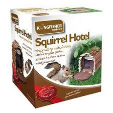 SQUIRREL FEEDER HOTEL HANGING WOODEN HOUSE HOME BOX NEST GARDEN FEEDING STATION