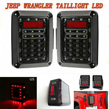 Plug and Play LH+RH LED Taillight Rear Lamp Assembly For Jeep Wrangler JK 07-15