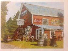 2 Coca Cola Pictures Size 8 X 10 Wooden Frames Lot Of 2 EUC