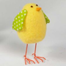 "NEW ARRIVAL!~SPRING POLKA DOT FELT EASTER CHICK~7.50"" Tall~ wreath/tree/garland"