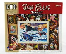 Florida 1000 Piece Jigsaw Puzzle Jon Ellis NEW fishing boat marlin flamingo art