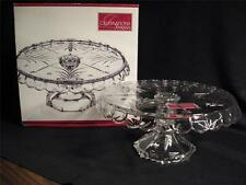 MIKASA CHRISTMAS NIGHT COLLECTION FOOTED CAKE PLATE - NEW IN BOX